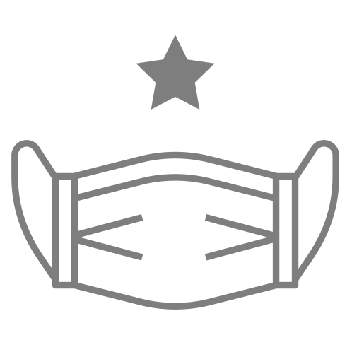 icon of mask with one star