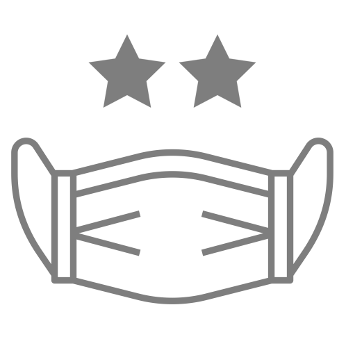 icon of mask with three stars